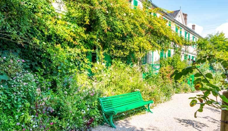 Visit Monet's house surrounded by flowers