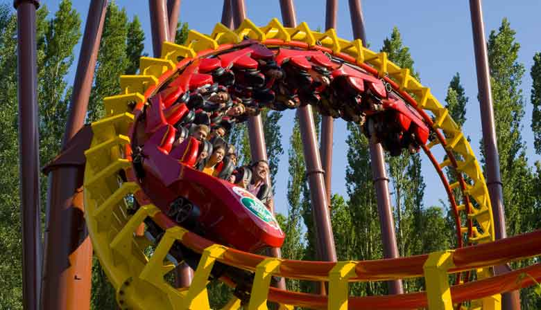 Grand Huit attraction at Asterix Parc
