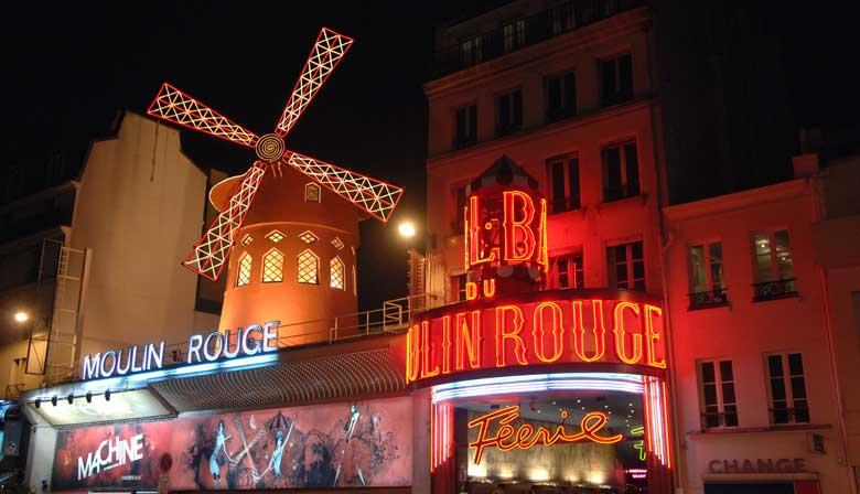 Vistas do Moulin Rouge do Big Bus
