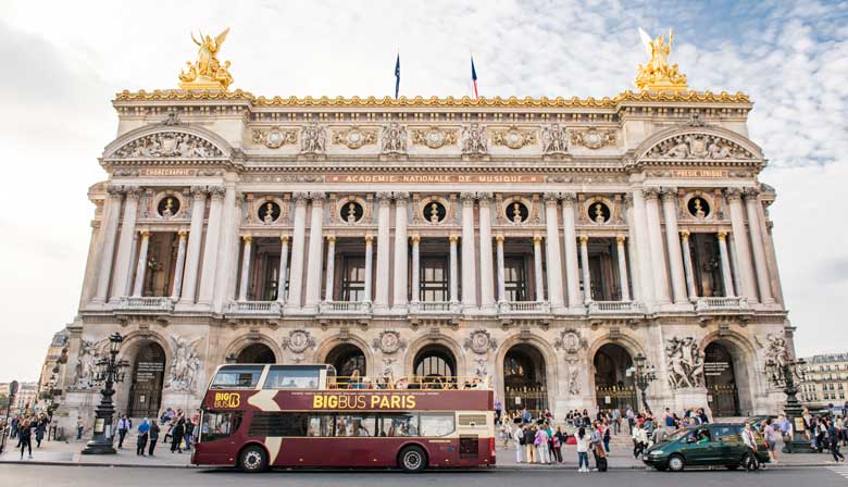 Visit Paris aboard the Big Bus