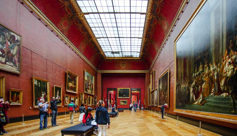 The Louvre galleries