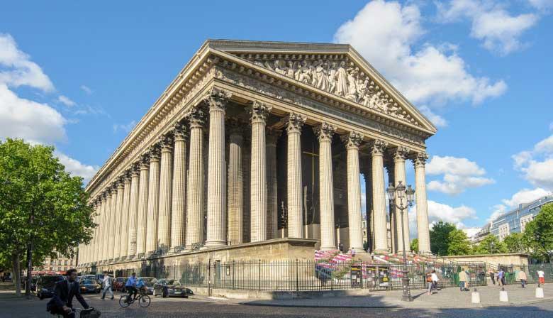 Igreja de Madeleine em Paris