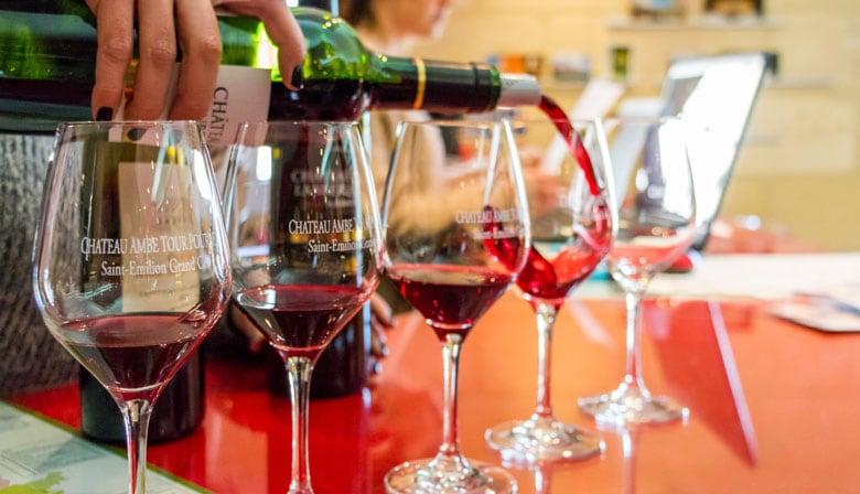 Enjoy a tasting of Bordeaux wines
