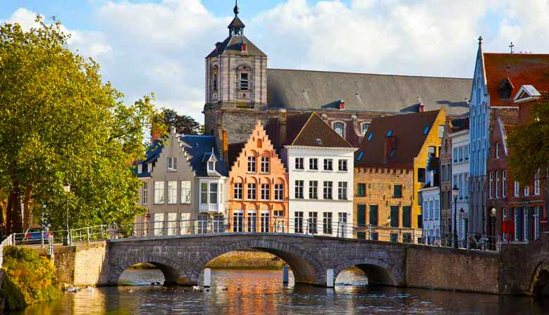 Explore the village of Bruges in Belgium