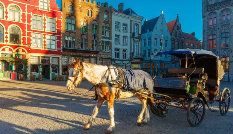 Promenade en calèche dans le centre de Bruges