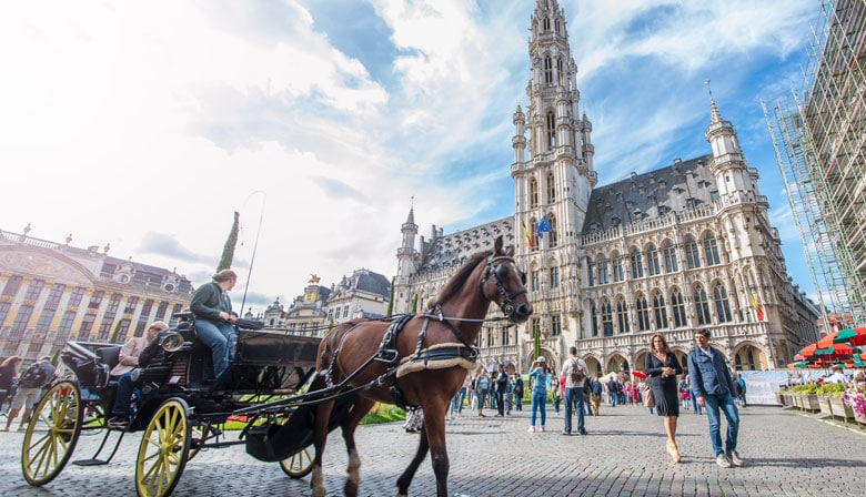 Grand Place in Bruxelles city