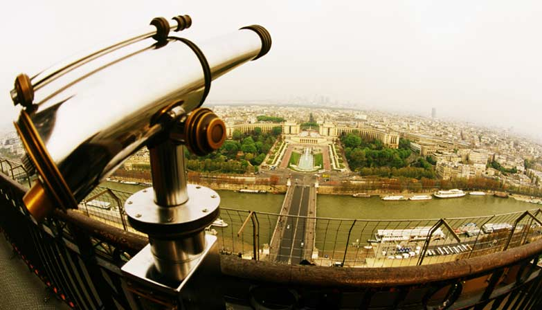 View over Paris from the Eiffel Tower