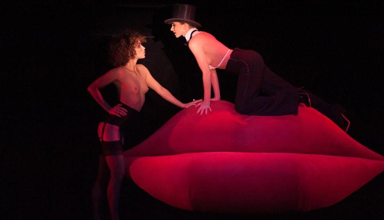 """Strip Tease Moi"" escenario del cabaré del Crazy Horse"