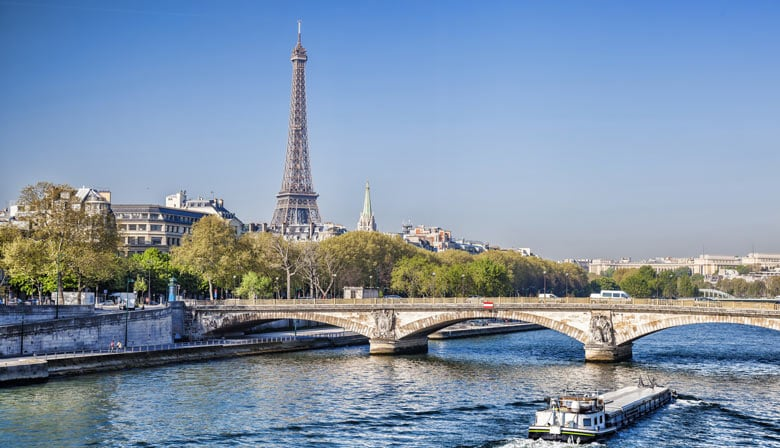 Enjoy a cruise on the Seine river
