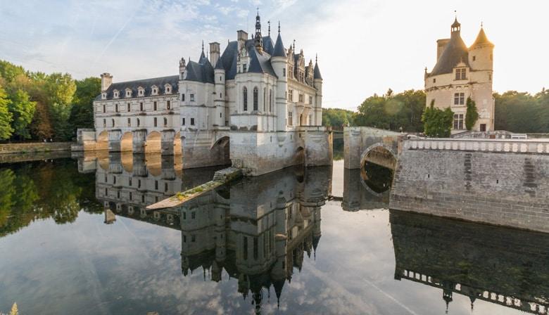 Castillo de Chenonceau sobre el río Cher