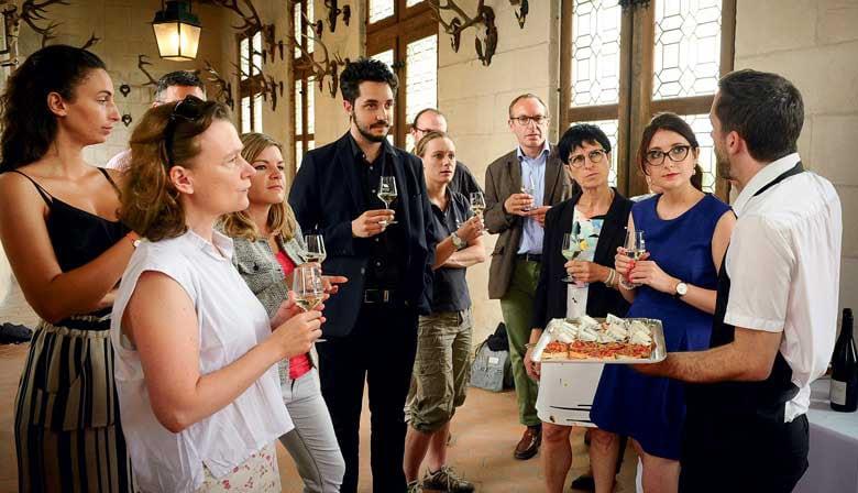 Cata de vinos en el Castillo de Chambord