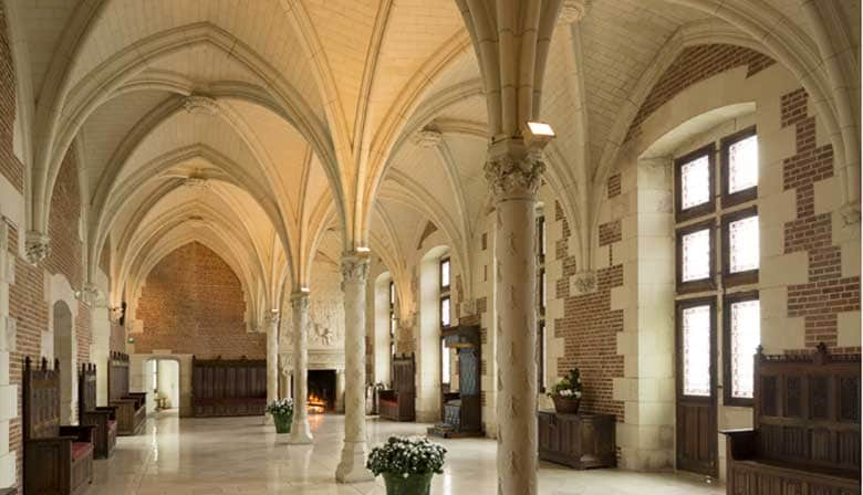 Visite el castillo de Amboise, en un grupo pequeño