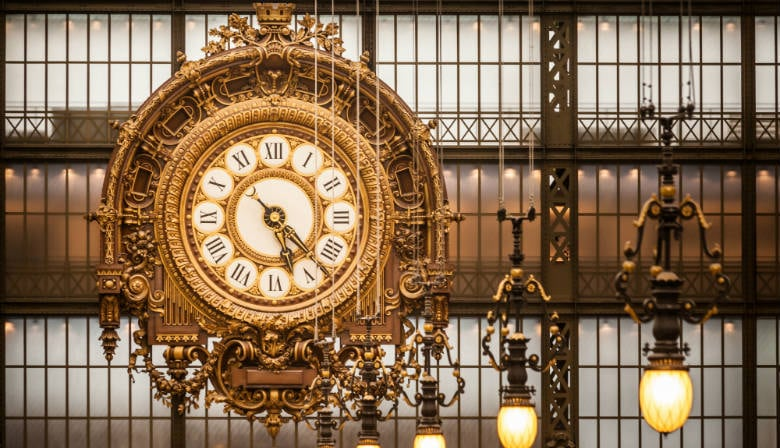 Clock in the Musée d'Orsay