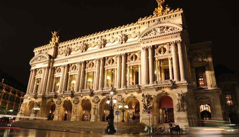 Opera Garnier House at night
