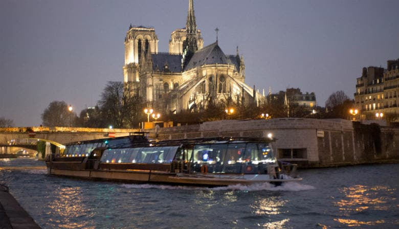 View of Notre Dame de Paris at night