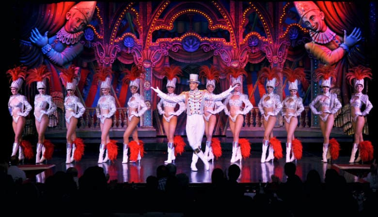 Moulin Rouge Feerie show in Paris