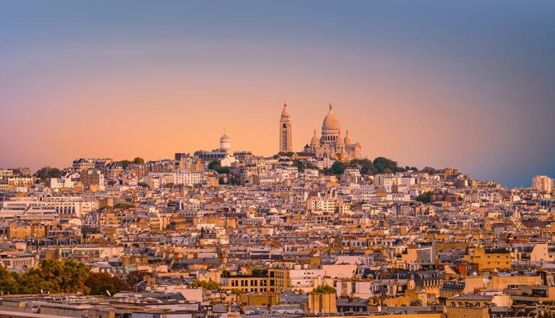 Montmartre vu de nuit