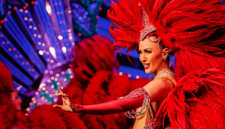 Dinner and show at the Moulin Rouge and Interactive City tour of Paris