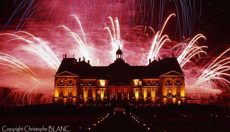 Espléndidos fuegos artificiales de Vaux le Vicomte