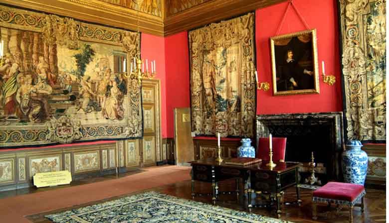 Beautiful room of Vaux le Vicomte