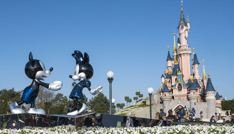 Mickey e Minnie na Disneyland Paris