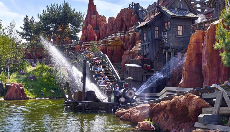 Big Thunder Moutain attraction at Disneyland Paris