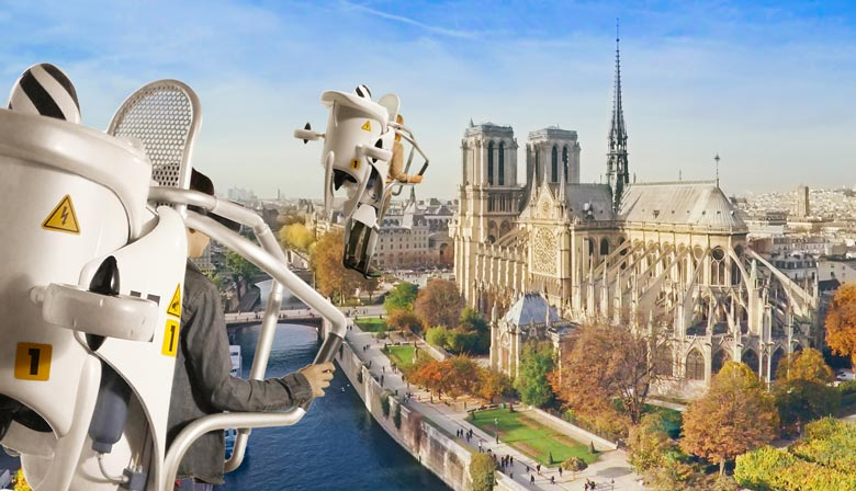 Notre-Dame con Flyview