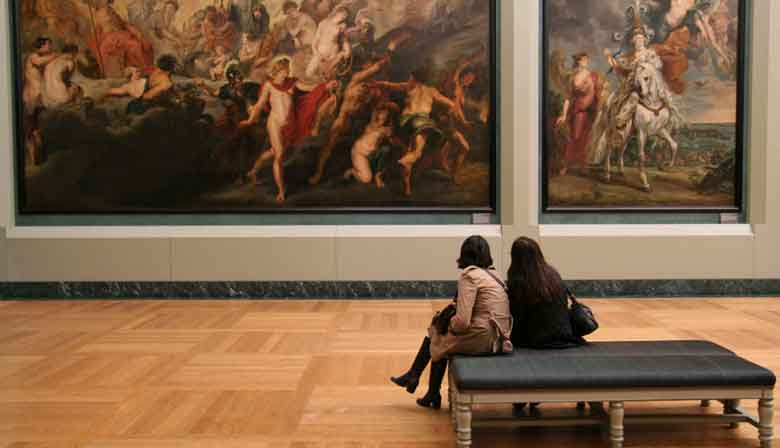 Paintings of the Louvre museum in Paris