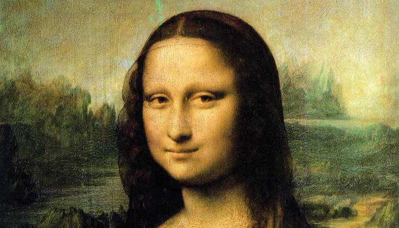 Mona Lisa Painting in the Louvre museum in Paris