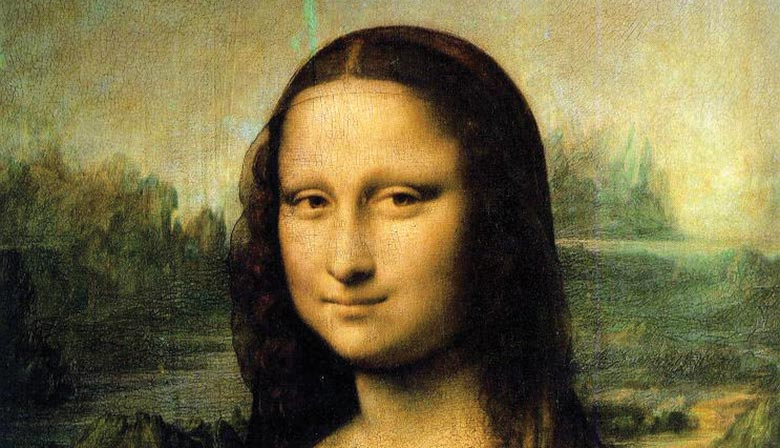 The famous Mona Lisa, painted by Leonard de Vinci, in the Louvre museum