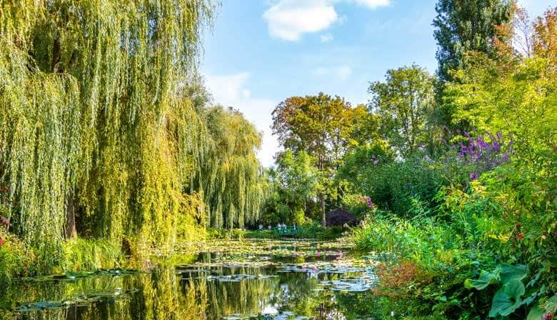 Gardens of Claude Monet's house in Giverny