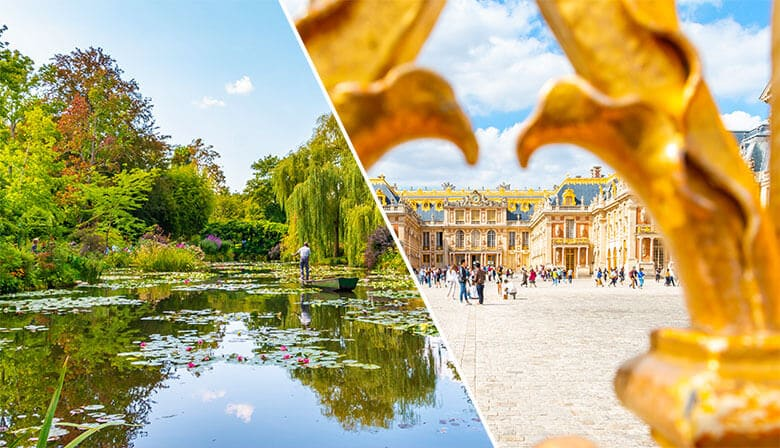 Audio guided tour of Versailles and Monet's gardens