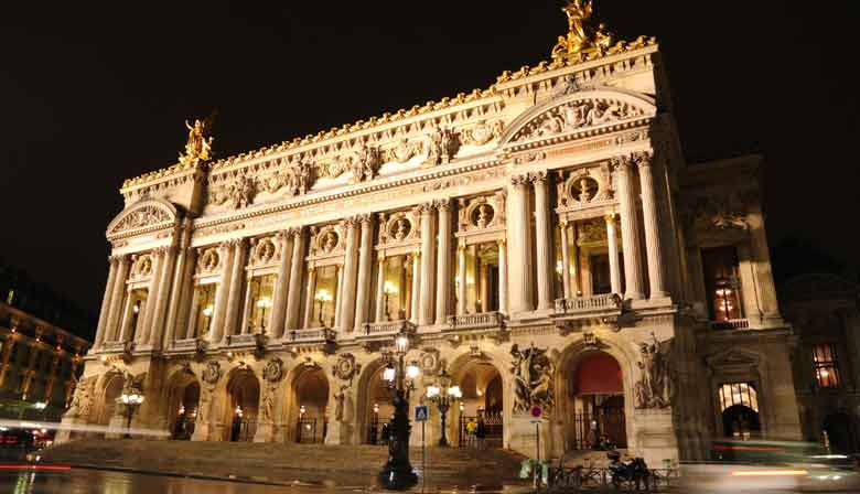 The Opera Garnier illuminated