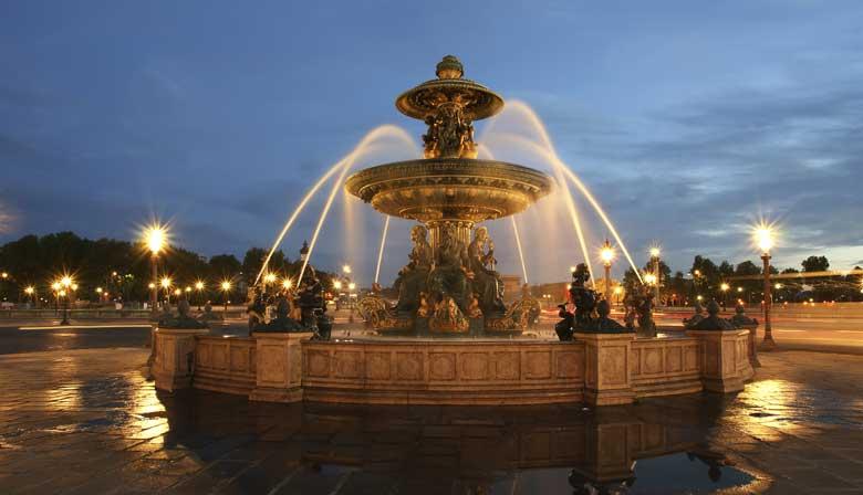 Place de la Concorde de nuit