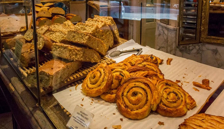 Typical french bakery in Paris