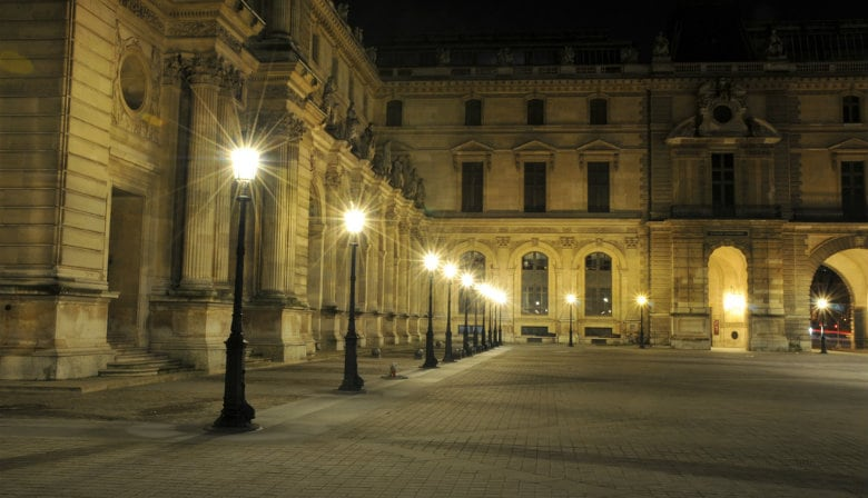 Paris walking tour at night