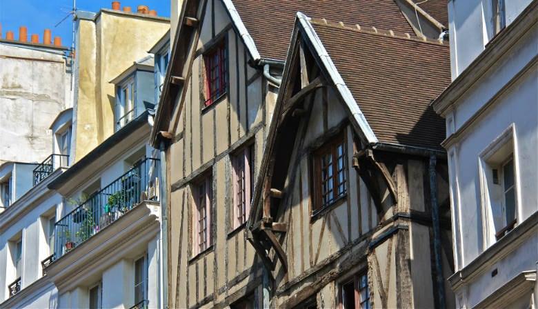 Houses in the Marais quarter