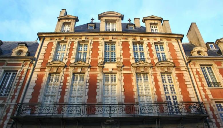Building in the Marais quarter in Paris