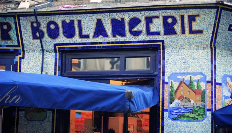 Authentic boulangerie in Paris