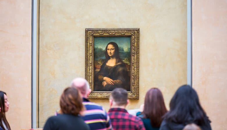 Die Mona Lisa im Louvre in Paris