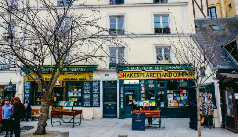 Shakespeare & Company bookshop in the latin quarter