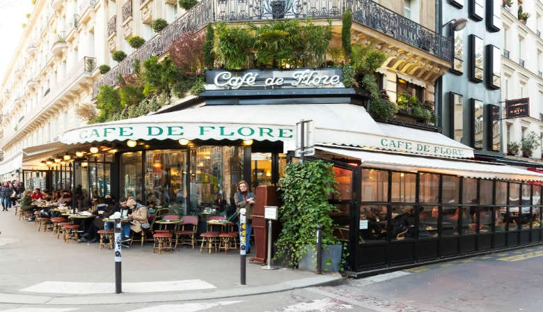 The famous Café de Flore in Paris