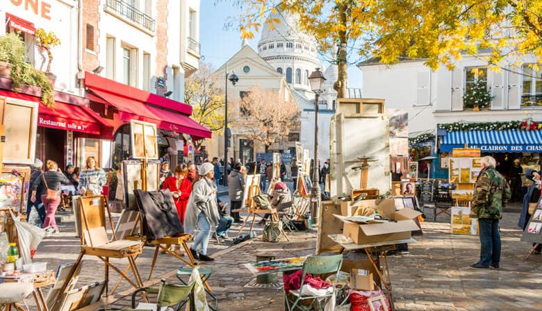The artists of Tertre square