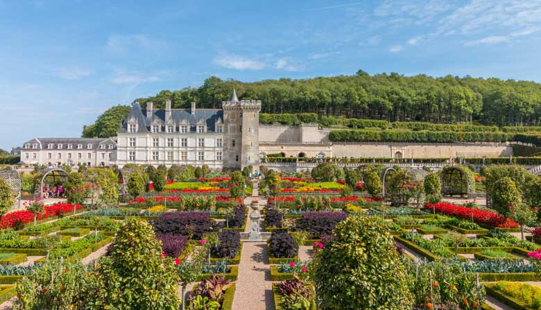 Discover the Villandry gardens with a guide