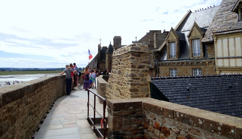 Walk through the village of the Mont Saint Michel