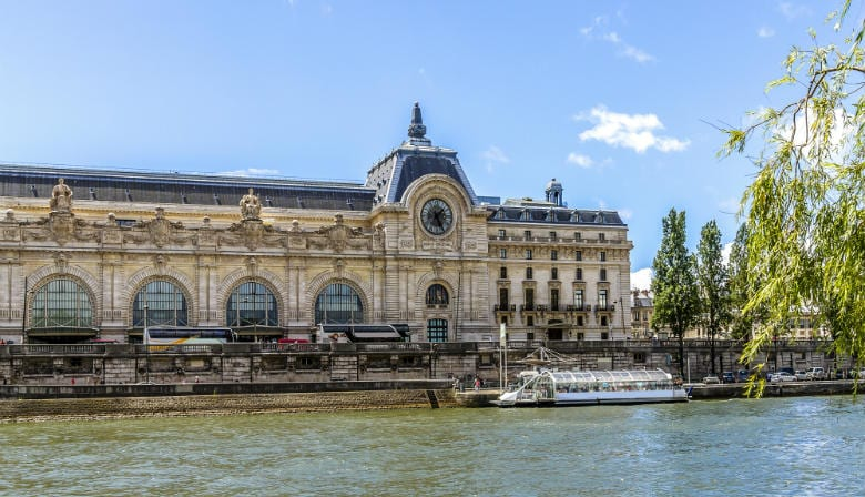 Orsay museum by the Seine river in Paris