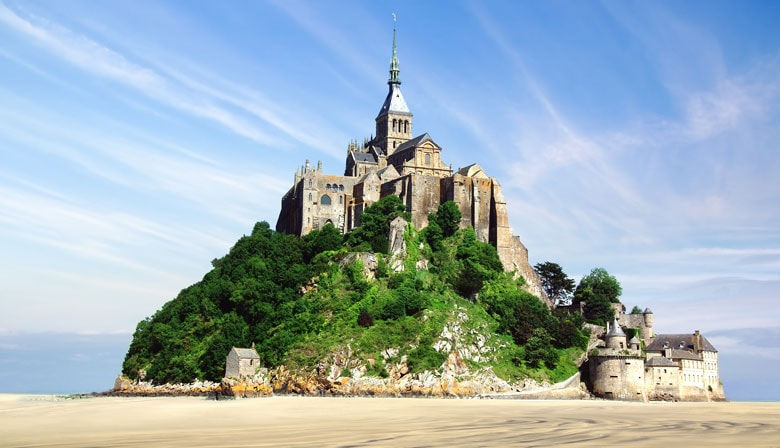 The Mont Saint Michel at low tide