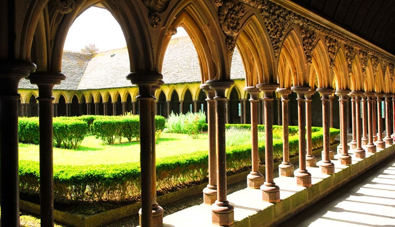 Cloister of the Mont Saint Michel abbaye