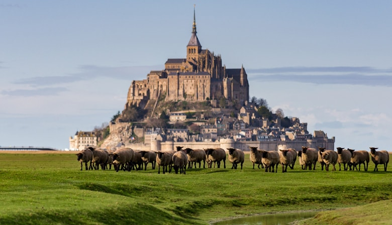 Visita do the Mont Saint Michel em Francia