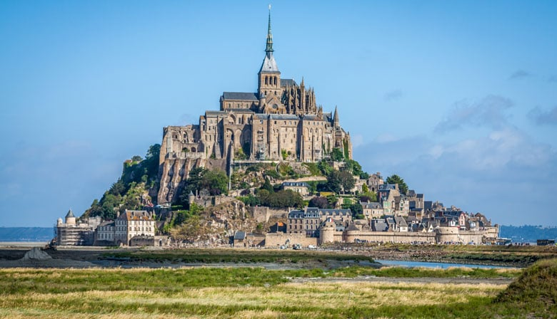 View of the Mont Saint Michel
